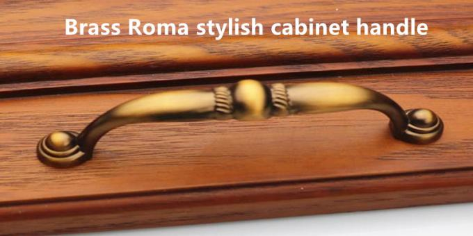 Roma Style Kitchen Cabinet Handles And Knobs, Matte Black Wardrobe Handles Arched Drawer Pulls