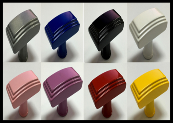 Cabinet ABS Plastic Handle , Colorful Plastic Door Knobs Black ...