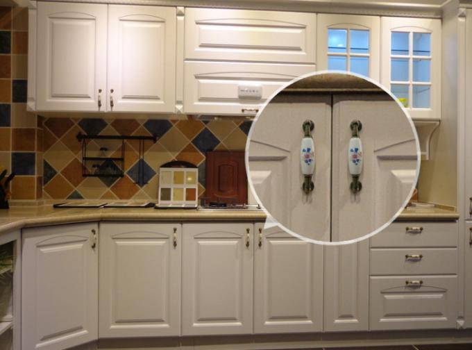 Kitchen Cupboard Door Knobs Ceramic Handles Antique Bronze Oval Porcelain Dresser Pulls