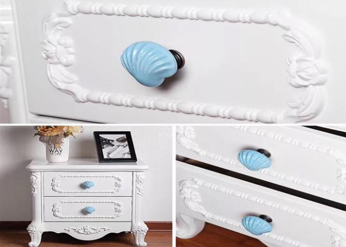 Blue Heart Ceramic Drawer Pulls Colorful Porcelain Furniture Handles Anti Brass Wardrobe Knobs