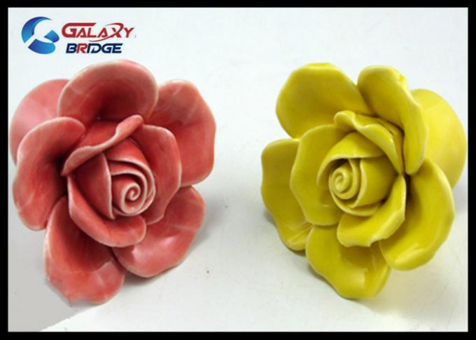 Colorful Ceramic Handles And Knobs Free Sample With 43mm Diameter 37mm Height