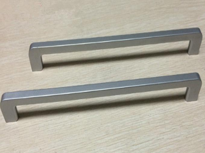 Silver ABS Plastic Handle Slender And Long Ice Box Door Handles / Recliner Closet  Pulls 288mm