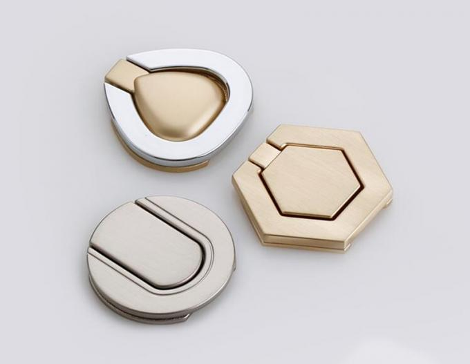 Brush Brass Hidden Drawer Pulls Kitchen Cabinet Knobs / Closet  Square ring Pulls  Furniture Fittings