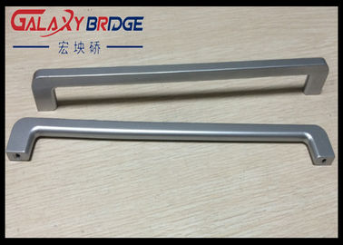 China Silver ABS Plastic Handle Slender And Long Ice Box Door Handles / Recliner Closet  Pulls 288mm supplier