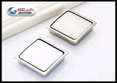China Zinc Alloy Chrome Hidden Kitchen Door Handles , Square Concealed Cabinet Pulls supplier
