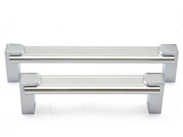 China Simple Kitchen Wardrobe Aluminum Drawer Pulls Chrome Zinc alloy T-Bar Kitchen Cabinet Handles supplier