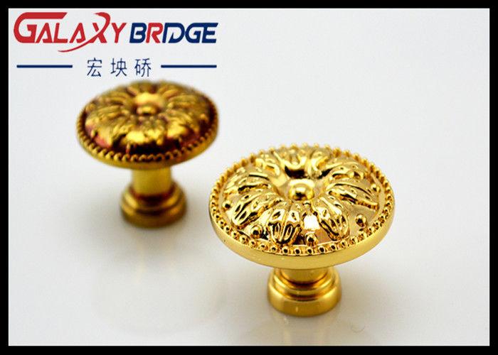 Luxury Gold Kitchen Cupboard Door Knobs Zinc Alloy Bottom Pulls 34mm  Diameter Turkey Handles