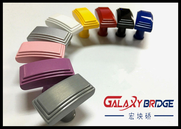 Square Cabinet ABS Plastic Handle , Colorful Plastic Door Knobs ...