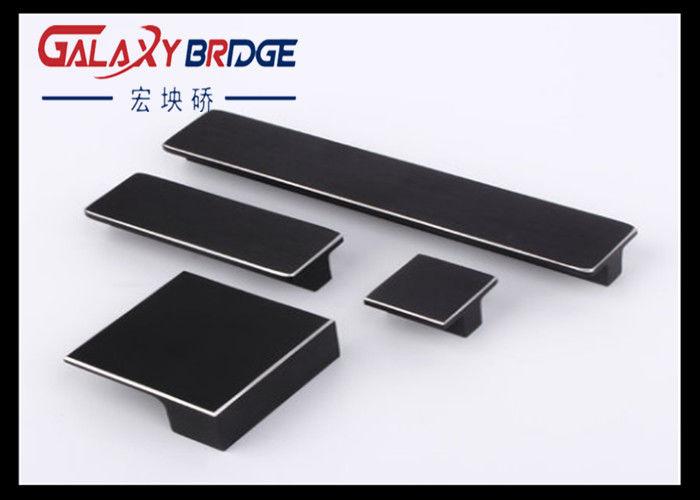 Black Brushed Aluminum Cross Bar Flat Cabinet Pulls Simple Dresser S Gold Furniture Handles