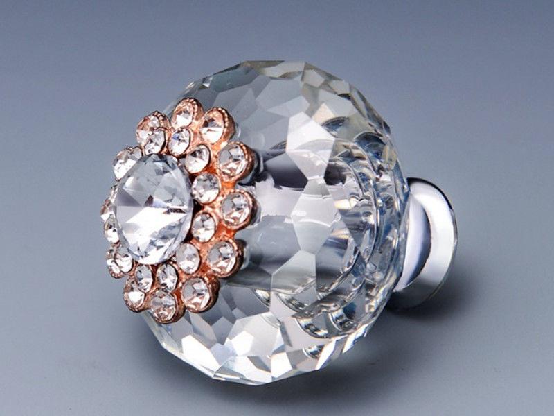Shining Crystal Drawer Handles And Knobs Door Knob Closet ...