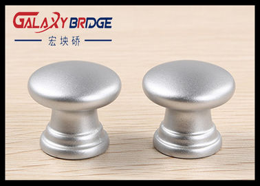 25mm Pearl Silver Plastic Cabinet Knobs Round ISO Certificated For  Furniture Drawer Pulls