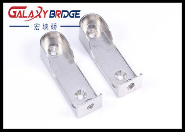 Zinc Oval Closet Pole Holders  Aluminum Pipe Supporter Wardrobe Furniture Hardware Fittings