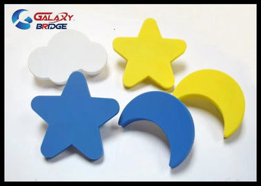 Blue Sky Rubber Kids Furniture Knobs PVC Cupboard Yellow Knobs Soft Plastic Yellow Star Cabinet Knobs