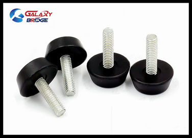 Iron Minifix Furniture Fittings Hardware PP Material Round Leg For Adjustbale Table Feet