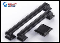 128mm American Stylish Plating Kitchen Cabinet Handles 96mm Black Arched Dresser Pulls Square Knobs