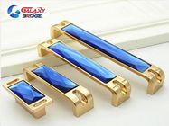 Blue Crystal Cabinet Drawer Handles Brown  Arcylic Furniture Decorative Cupboard Pulls