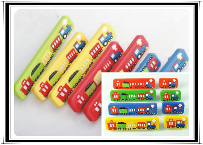 Big Train Colorful Rubber Drawer Pulls Cartoon Knobs 32mm Soft Plastic Kids Bedroom Furniture Handles